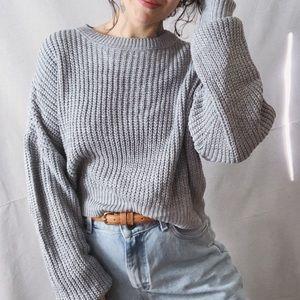 NWT BDG Oversized Cropped Sweater Medium Grey
